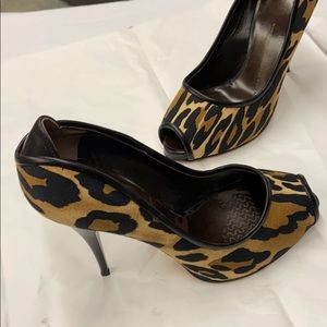 Giuseppe Zanotti-||| Leopard Print Stilettos-(37)